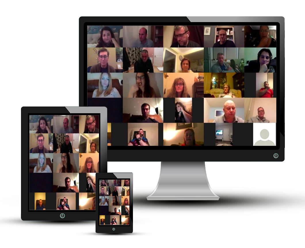 Attendees of Hypnosis online meet ups